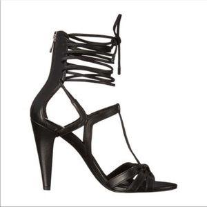 Sigerson Morrison Melody Black Lace Up Heel Sandal